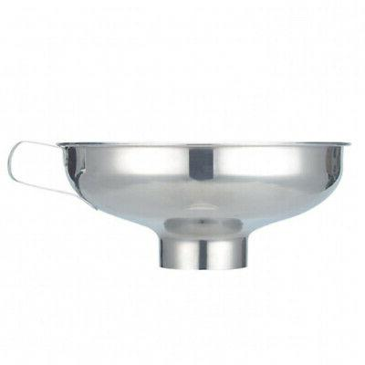 stainless steel funnel wide mouth funnel metal