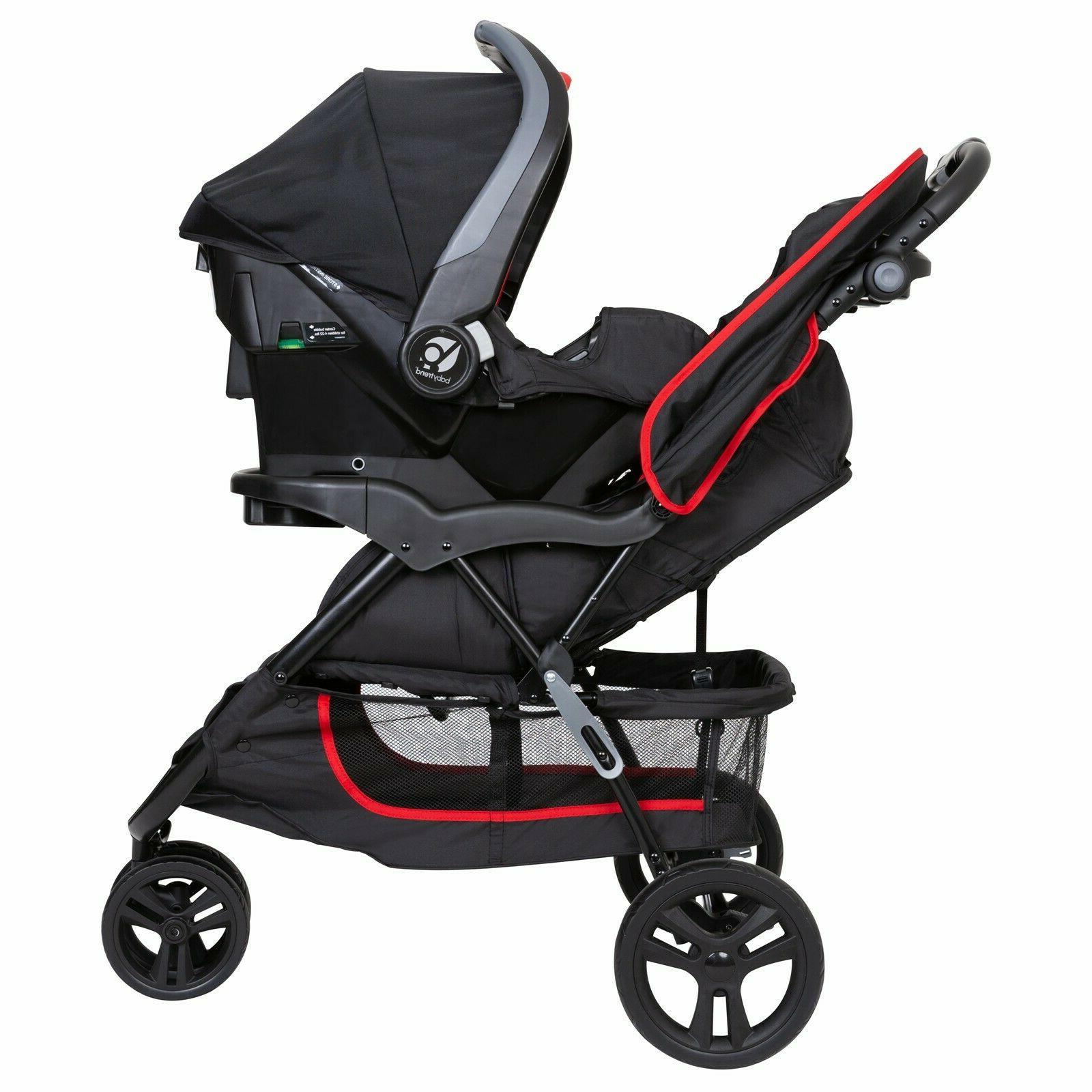Baby System Seat Infant Kid Red Black