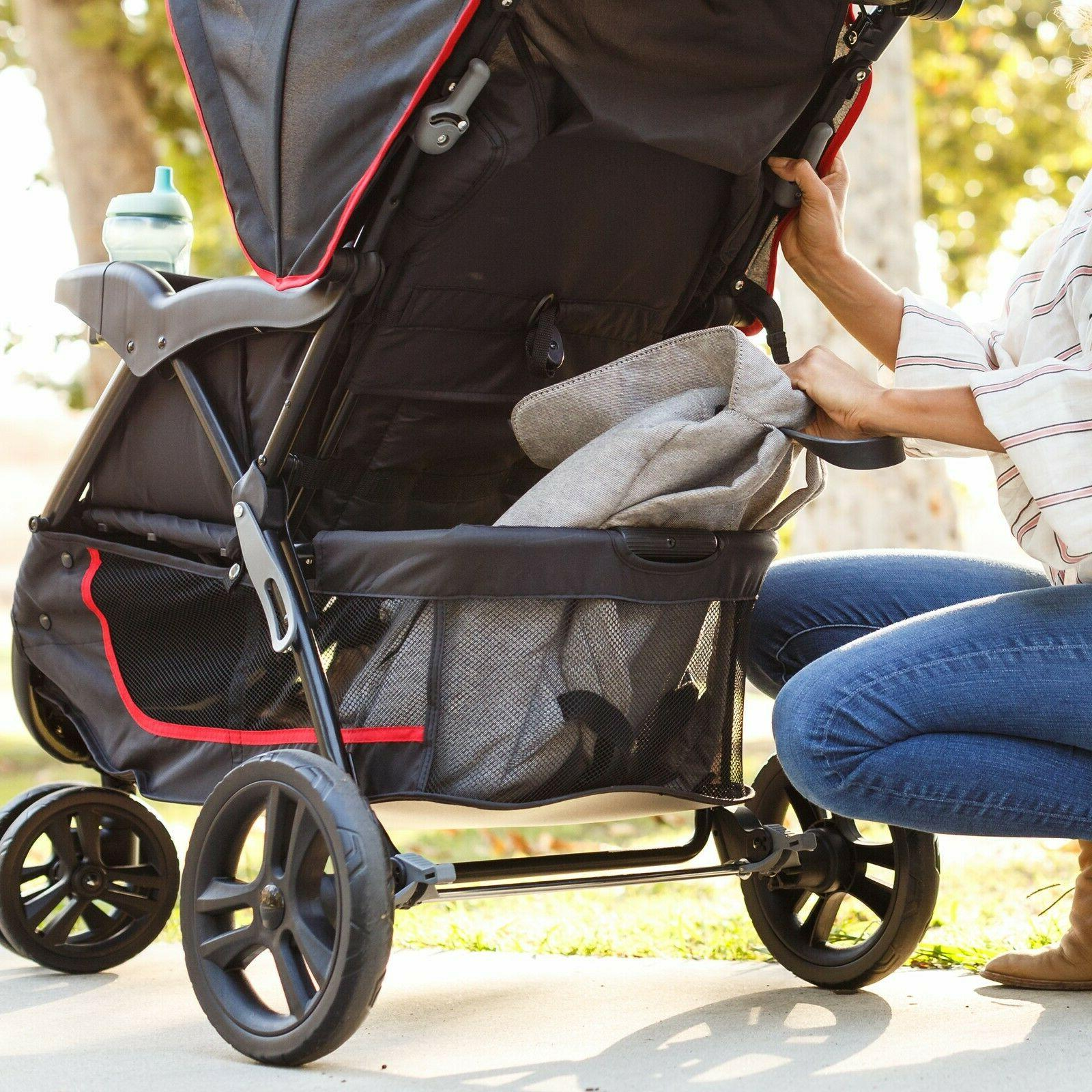 Baby System with Seat Infant Red Black